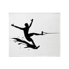 Water Skiing Throw Blanket
