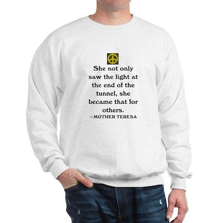 MOTHER TERESA - LIGHT OF THE WORLD Sweatshirt