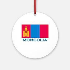 Mongolia Flag Stuff Ornament (Round)