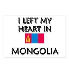 I Left My Heart In Mongolia Postcards (Package of