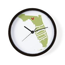 Florida Home Wall Clock