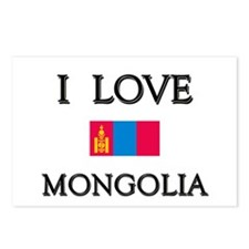 I Love Mongolia Postcards (Package of 8)