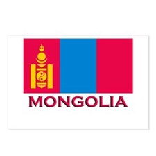 Mongolia Flag Merchandise Postcards (Package of 8)