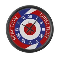 scooter boy or girl mod clock. Large Wall Clock