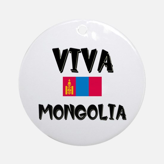 Viva Mongolia Ornament (Round)