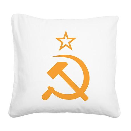 Soviet Square Canvas Pillow