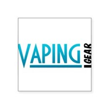 "Vaping Gear Logo Square Sticker 3"" x 3"""