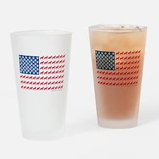Patriotic German Shepherd Drinking Glass