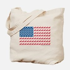 Patriotic German Shepherd Tote Bag