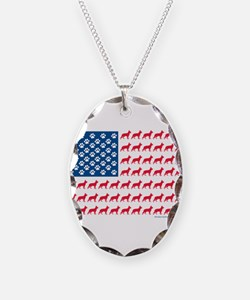 Patriotic German Shepherd Necklace