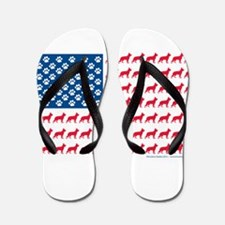 Patriotic German Shepherd Flip Flops