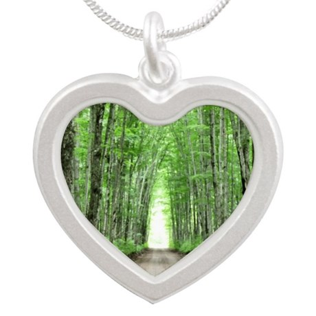 Cathedral Road Silver Heart Necklace