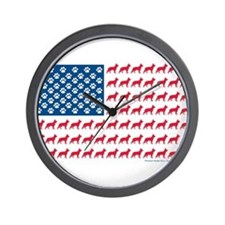 Patriotic German Shepherd Wall Clock
