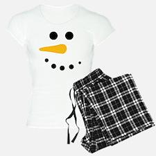 Snow Man Face - Snowman Face - Carrot Coal Pajamas
