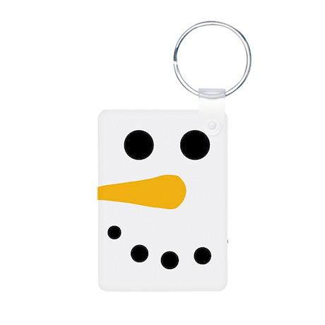 Snow Man Face - Snowman Face - Carrot Coal Aluminu