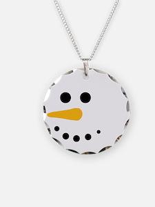 Snow Man Head Round Necklace