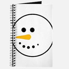 Snow Man Head Round Journal