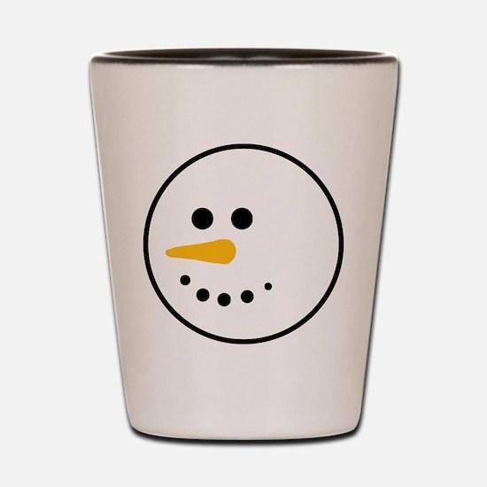 Snow Man Head Round Shot Glass