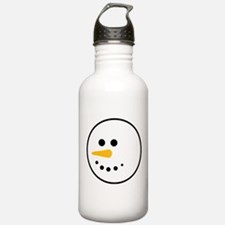 Snow Man Head Round Water Bottle