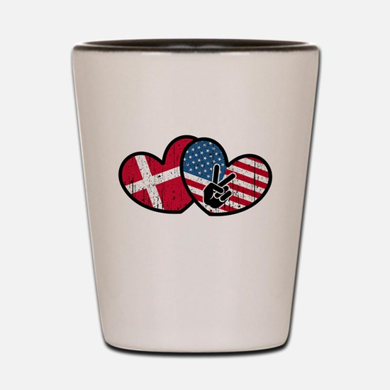 danish american Shot Glass