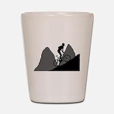 Mountain Biking Shot Glass