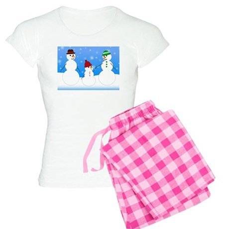 Snowman Family Women's Light Pajamas