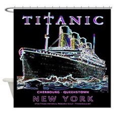 Titanic Neon (black) Shower Curtain