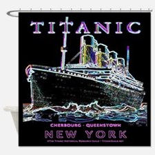 Titanic Neon (black) Shower Curtain