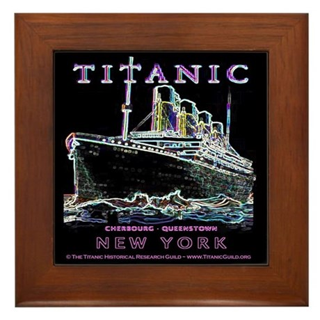 Titanic Neon (black) Framed Tile