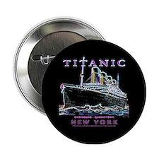 """Titanic Neon (black) 2.25"""" Button"""
