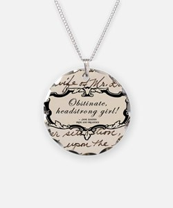 Obstinate Elizabeth Bennet Necklace