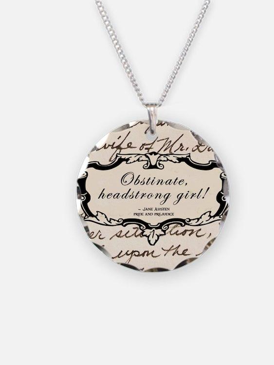 Obstinate Elizabeth Bennet Necklace