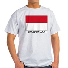 Flag of Monaco Ash Grey T-Shirt