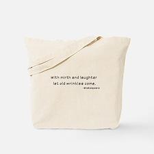 Laughtees Shakespeare Old Wrinkles Tote Bag