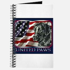 Labrador Retriever Flag USA Journal