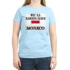 Flag of Monaco Women's Pink T-Shirt