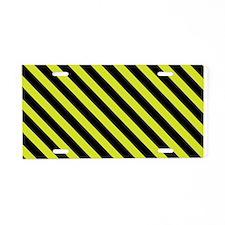 Warning Stripe Aluminum License Plate