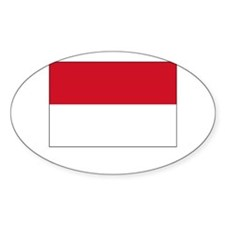 Monaco Flag Picture Oval Decal