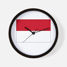Monaco Flag Picture Wall Clock