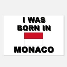 I Was Born In Monaco Postcards (Package of 8)