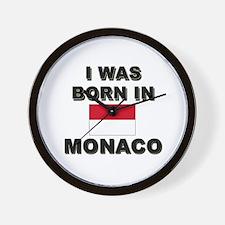 I Was Born In Monaco Wall Clock