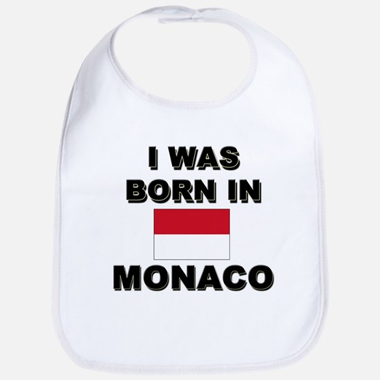 I Was Born In Monaco Bib