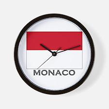 Monaco Flag Stuff Wall Clock