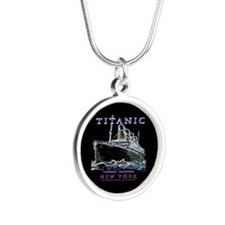 Titanic Neon (black) Silver Round Necklace