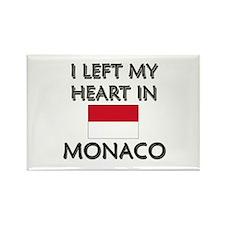 I Left My Heart In Monaco Rectangle Magnet