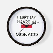 I Left My Heart In Monaco Wall Clock