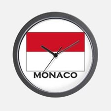 Monaco Flag Gear Wall Clock