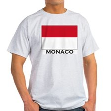 Monaco Flag Gear Ash Grey T-Shirt