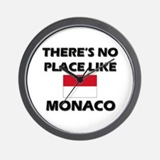There Is No Place Like Monaco Wall Clock