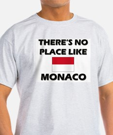 There Is No Place Like Monaco Ash Grey T-Shirt